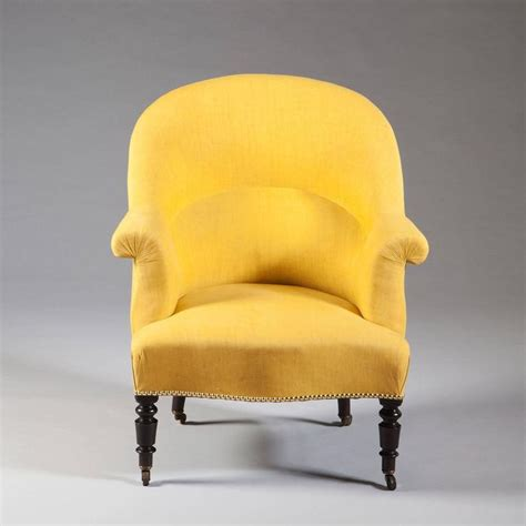 Tub Armchairs For Sale by Pair Of Antique Yellow And Black Bergeres Tub