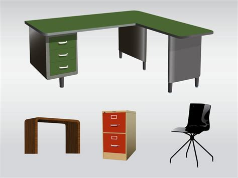 Free Office Desk Office Furniture Vector Graphics Freevector