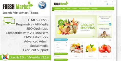 fresh market responsive virtuemart template by