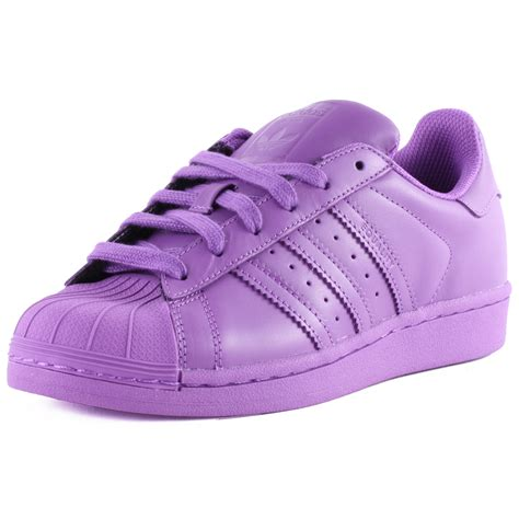 adidas superstar supercolour herren leder purple sneakers