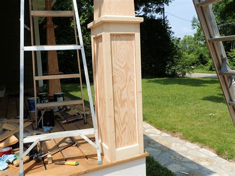 craftsman style front porch posts how to make craftsman style tapered columns columns