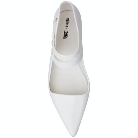 white flat pointed shoes karl lagerfeld for s melissima 11 pointed