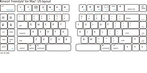keyboard layout maker for mac freestyle keyboard for mac by kinesis detailed product