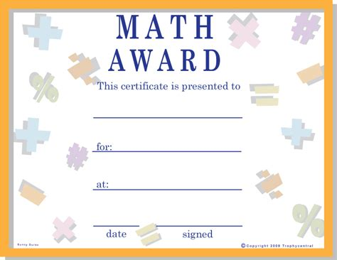 Free Math Certificates, Certificate Free Math