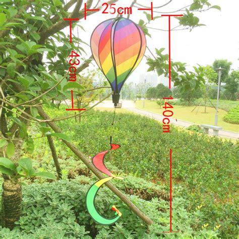 rainbow striped windsock air balloon wind spinner