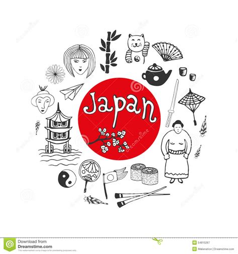 doodle 4 japan doodle collection of japan icons japan culture