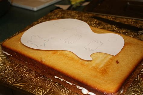 guitar templates for cakes guitar shaped cake template image search results