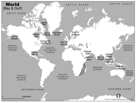 world map with oceans and lakes free world bay and gulf black and white map bay and gulf