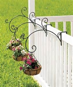 new set of 3 or single porch railing balcony metal plant holder support pot