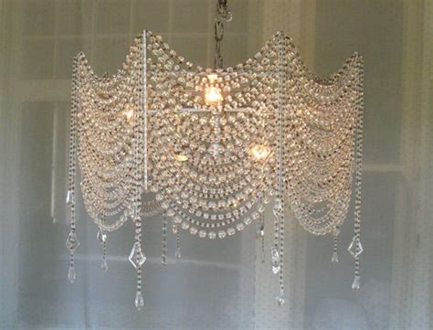 Diy Pearl Chandelier Diy Chandelier Chandeliers Master Bathrooms And Crystals