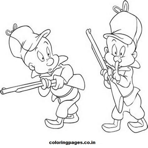 Elmer Fudd Coloring Pages looney tunes elmer fudd coloring pages