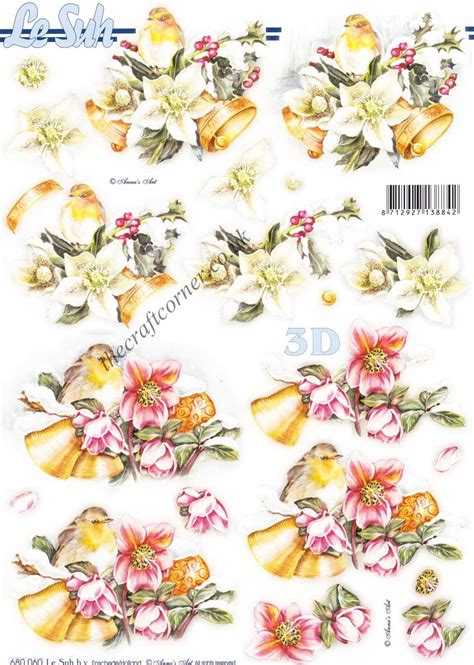 Die Cut Decoupage Sheets - robin bells die cut 3d decoupage sheet