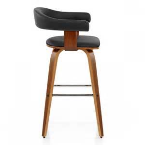 chaise de bar cuir bois ontario monde du tabouret