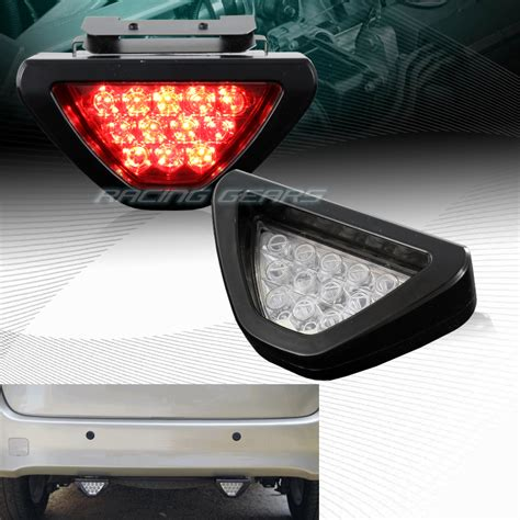 Lu Stop F1 Led f1 sport style 12 led clear lens third brake light stop l universal 2 ebay