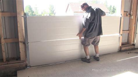 how to install overhead door how to install a garage door