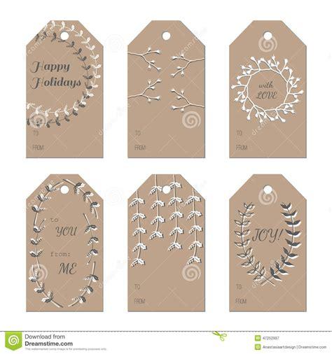 Gift Tag Greeting Card new year holidays gift tags set stock vector