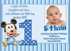 jb26 baby mickey mouse 1st birthday invitations