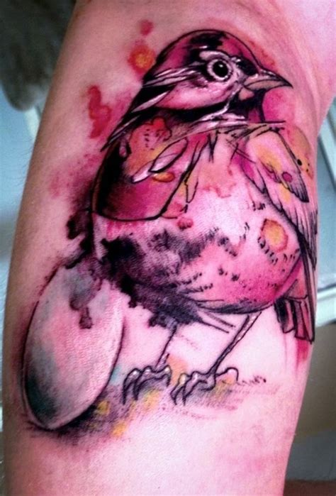 watercolor tattoo needle watercolor done by walt minor at needles of fury pa