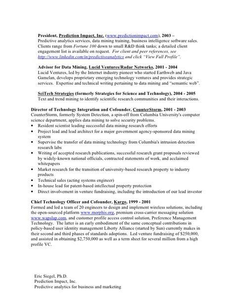 predictive analytics resume resume ideas