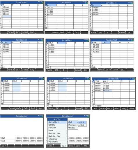 Column Spreadsheet by Eddie S Math And Calculator Hp Prime Spreadsheet App