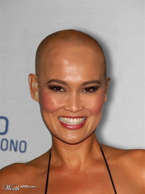 bald woman 2014 picture of tia carrere