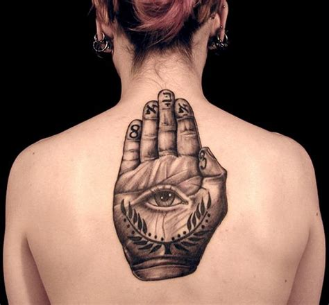 tattoo eye in hand magical mystical hamsa hand of fatima changing hands