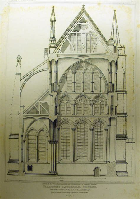 cathedral section front elevation of church joy studio design gallery