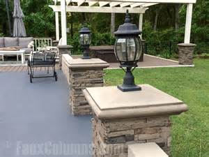 Patio Pillar Lights Decorative Column Ideas Imitation Photo Gallery