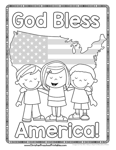 usa coloring pages for preschool god bless america coloring pages for preschool god best