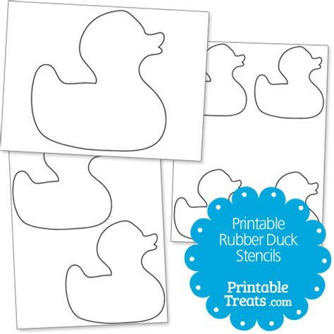 rubber st template free printable rubber duck stencils printable treats