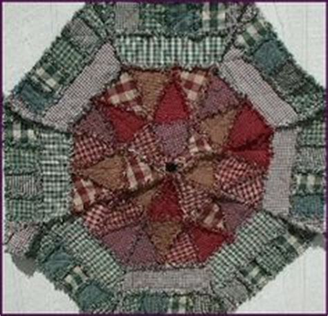 christmas tree skirt pattern primitive rag quilt