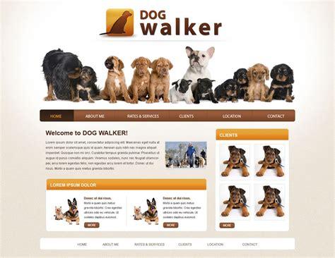 Dog Walker Website Template Free Dog Walking Templates Phpjabbers Free Walking Templates