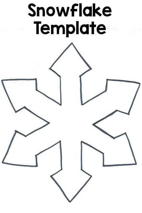 Printable Snowflake Template by Snowflake Template