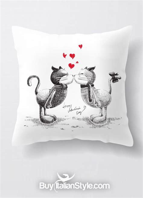 federe cuscino federa per cuscino con gatti innamorati cats in