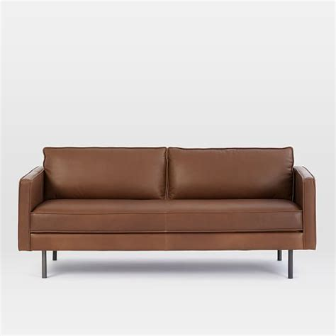 elm axel leather sofa axel leather sofa 76 quot elm