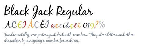 Blackjack A Cross Novel blackjack regular font