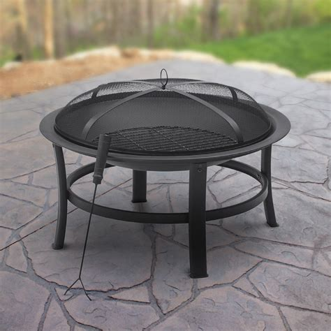patio firepit mainstays gas pit rubbed bronze walmart