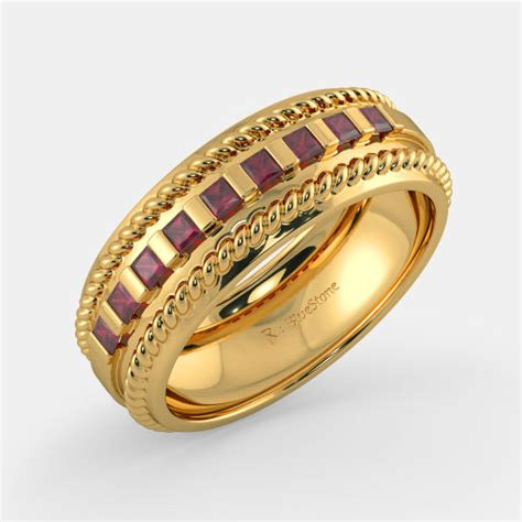 buy 100 s yellow gold ring designs in india