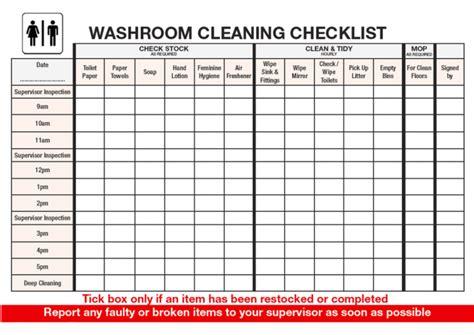 checklist of washroom getpaidforphotos com washroom checklist getpaidforphotos com