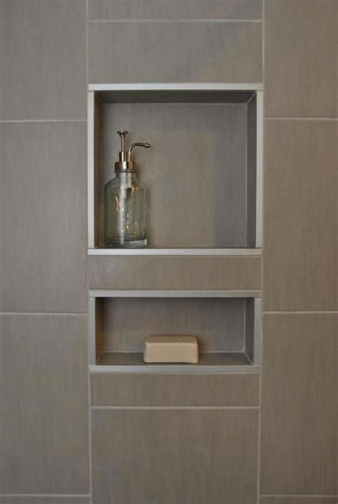 Recessed Bathroom Shelves Recessed Bathroom Shelves Den In Progress Theshaveden Uncover Space Make Recessed Shelves In