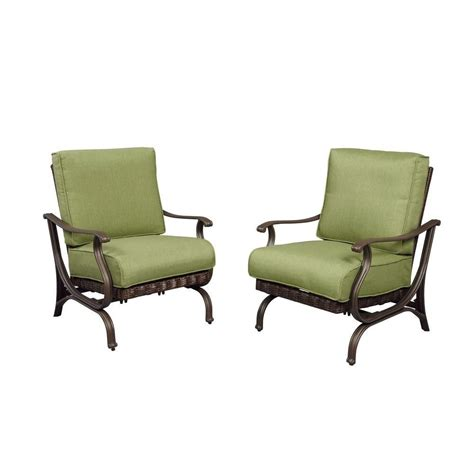patio lounge chairs home depot hton bay pembrey patio lounge chair with moss cushion