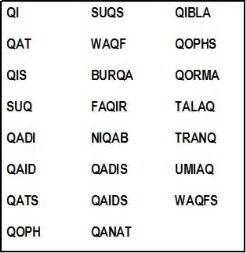 q words without u