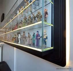 Glass Display Cabinet Furniture Custom Made Star Wars Action Figure Display Shelf Mightymega