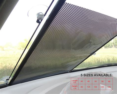 Window Shade Cover Retractable Car Auto Front Rear Windshield Sun Shade Cover