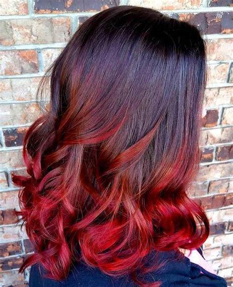 hombre hair on medium length hair 25 thrilling ideas for red ombre hair