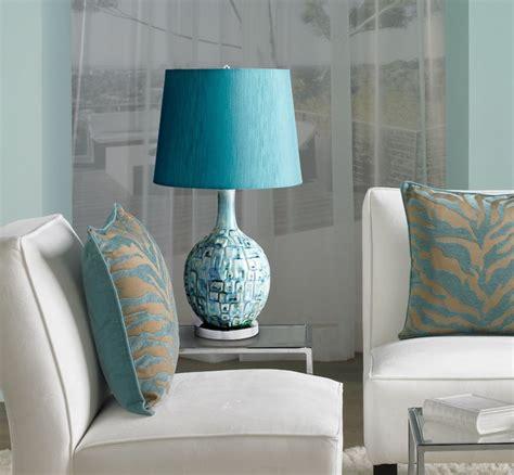 jordan teal ceramic table lamp contemporary living room  york    lites