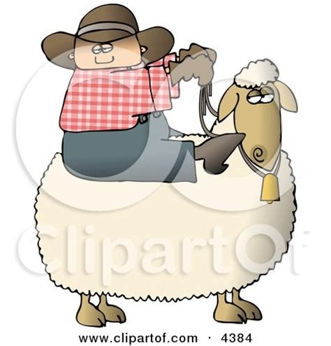 pinup preteen toon young preteen cowboy riding a sheep clipart by djart 4384