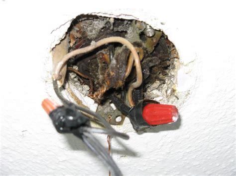 knob  tube ceiling fan install  junction box