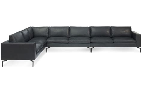 Large Leather Sectional Sofas New Standard Large Sectional Leather Sofa Hivemodern