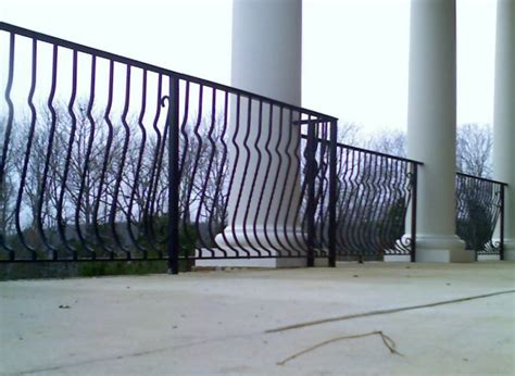 Railing Pickets Forged Iron Belly Picket Railing